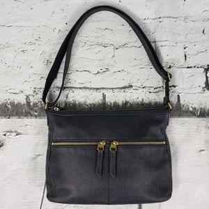 Fossil Black Leather Crossbody Bag